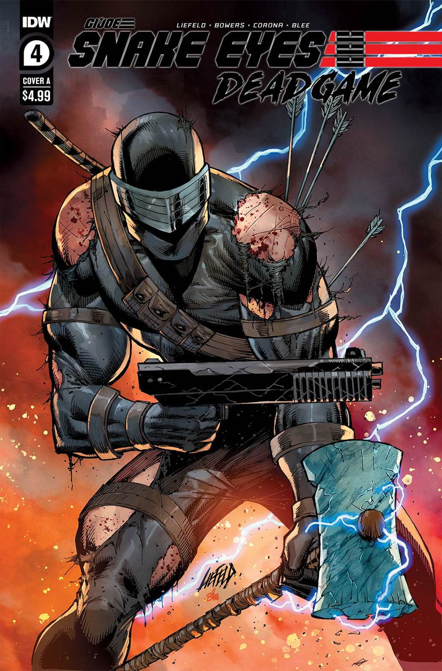 Snake Eyes Deadgame #4 Cover A Regular Rob Liefeld Cover