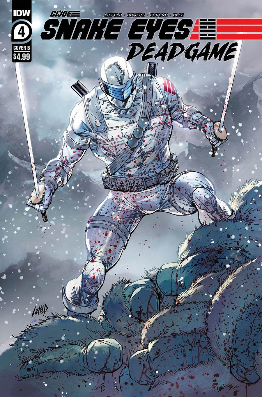 Snake Eyes Deadgame #4 Cover B Variant Rob Liefeld Cover
