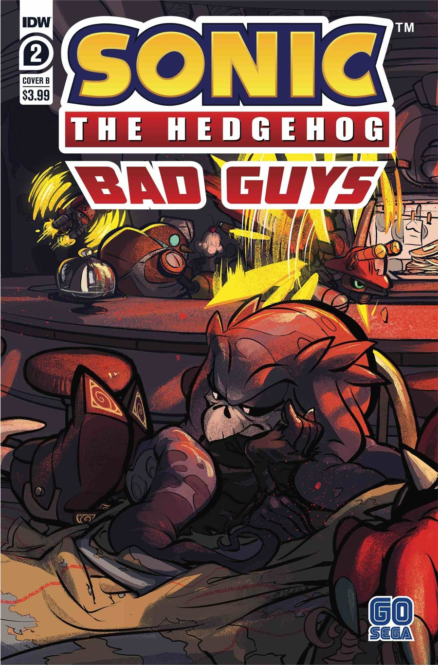Sonic The Hedgehog Bad Guys #2 Cover B Variant Diana Skelly Cover