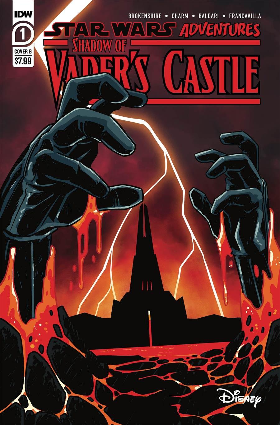 Star Wars Adventures Shadow Of Vaders Castle Cover B Variant Derek Charm Cover