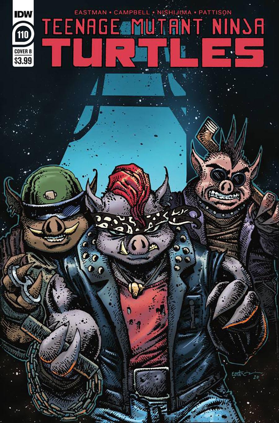 Teenage Mutant Ninja Turtles Vol 5 #110 Cover B Variant Kevin Eastman Cover