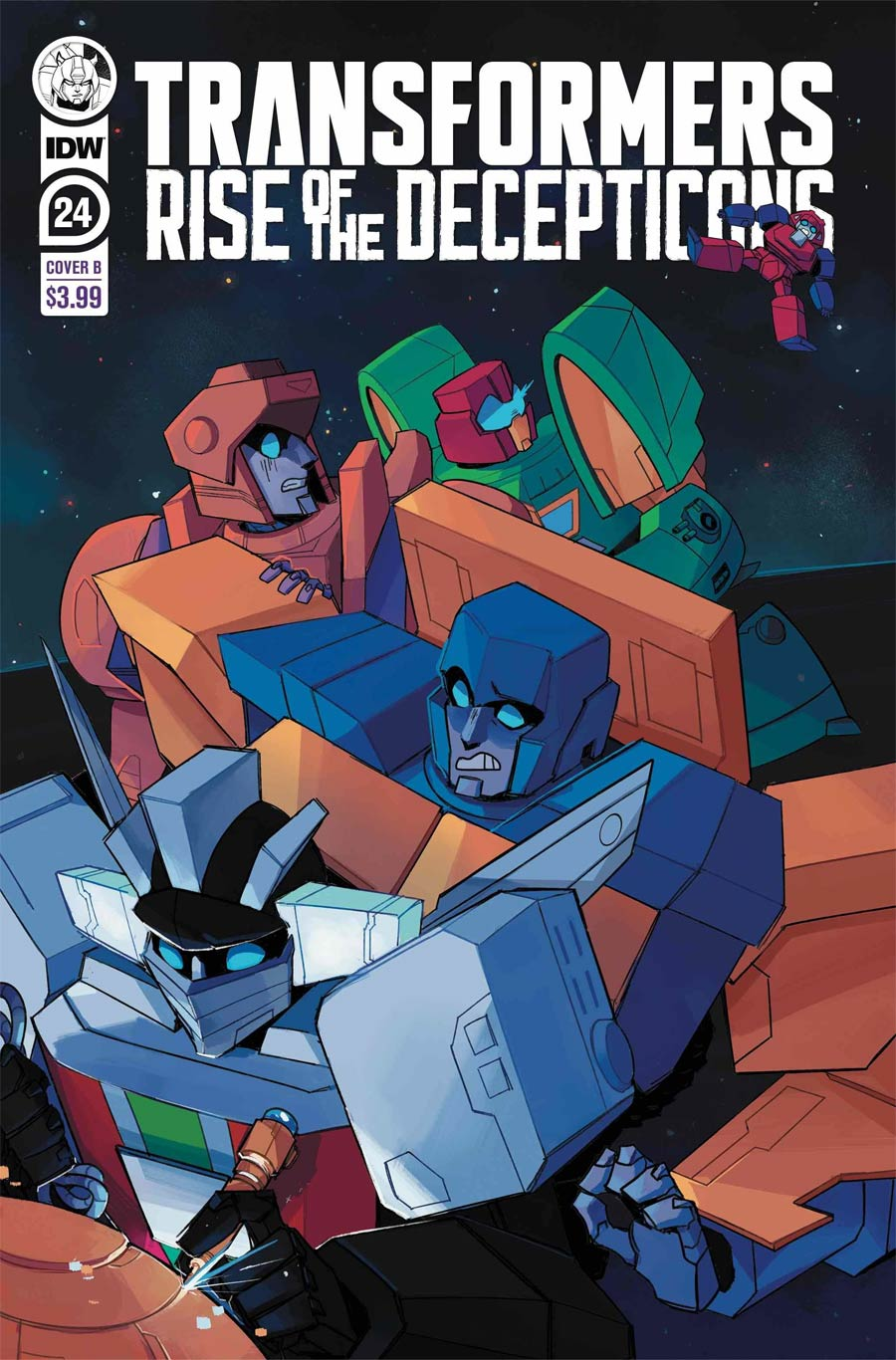Transformers Vol 4 #24 Cover B Variant Red Powell Cover