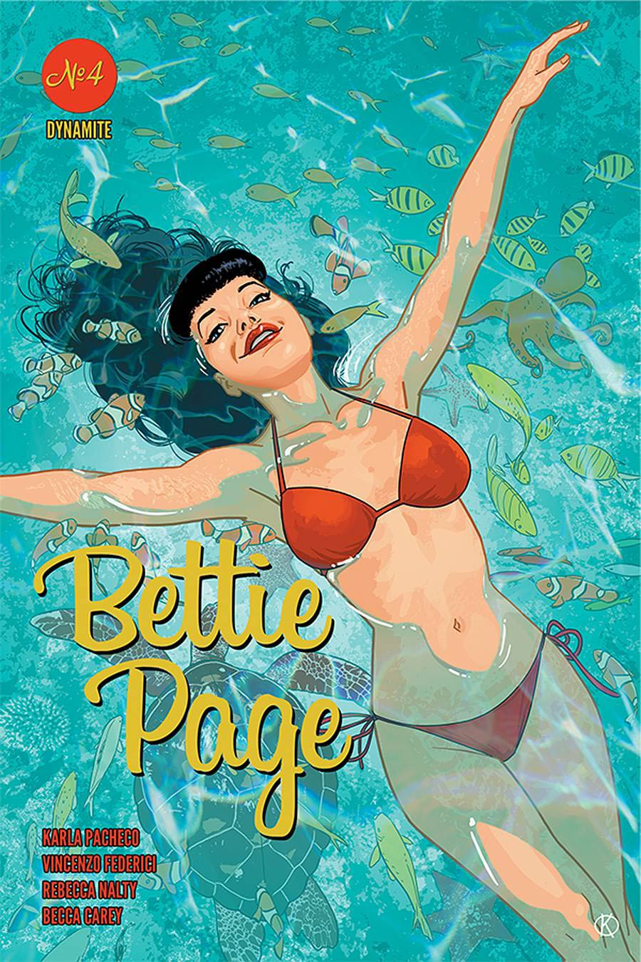 Bettie Page Vol 3 #4 Cover B Variant Kano Cover