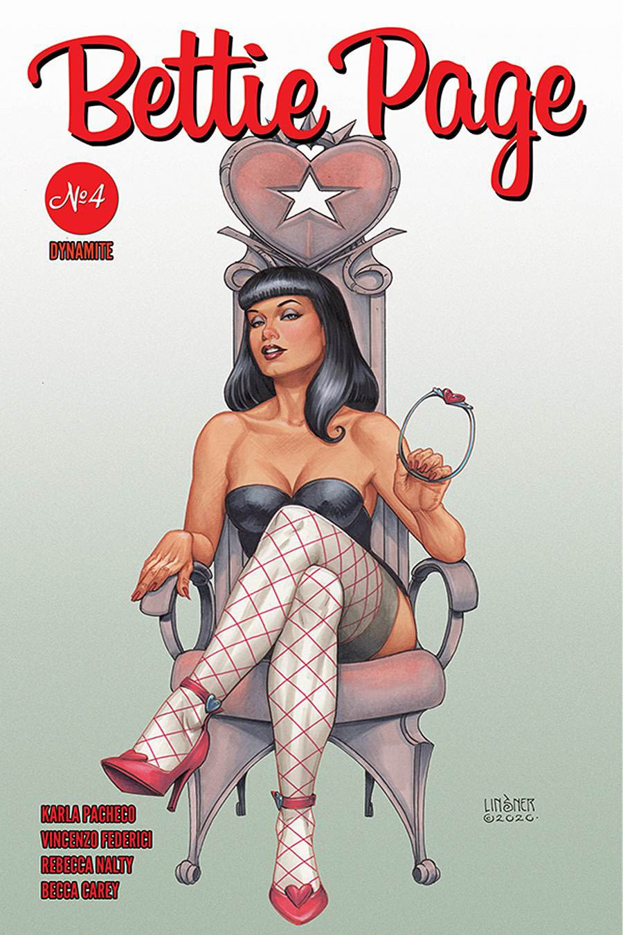 Bettie Page Vol 3 #4 Cover C Variant Joseph Michael Linsner Cover