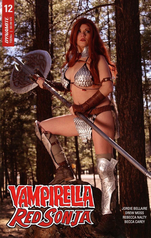 Vampirella Red Sonja #12 Cover D Variant Sapphire Nova Cosplay Photo Cover