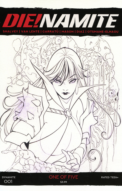 DieNamite #1 Cover M Incentive Peach Momoko Vampirella Black & White Cover