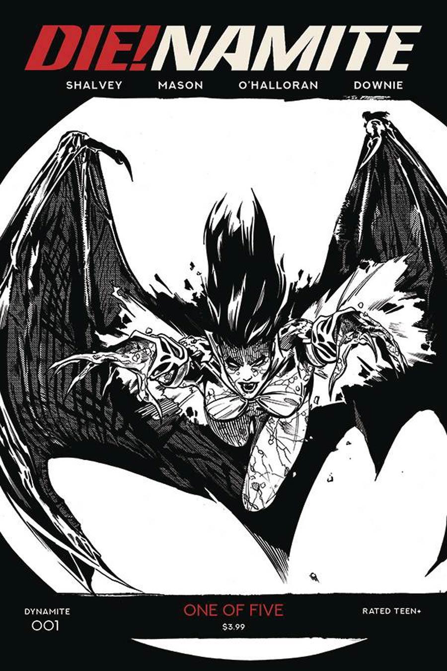 DieNamite #1 Cover P Incentive Stephen Mooney Classic Batman Homage Black & White Cover