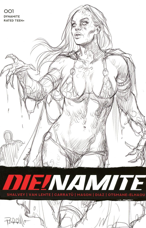 DieNamite #1 Cover R Incentive Lucio Parrillo Black & White Cover