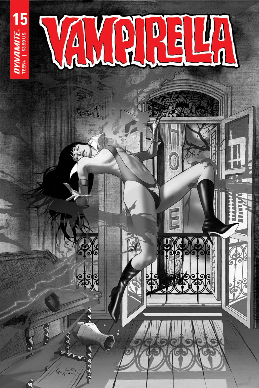 Vampirella Vol 8 #15 Cover M Incentive Ergun Gunduz Black & White Cover