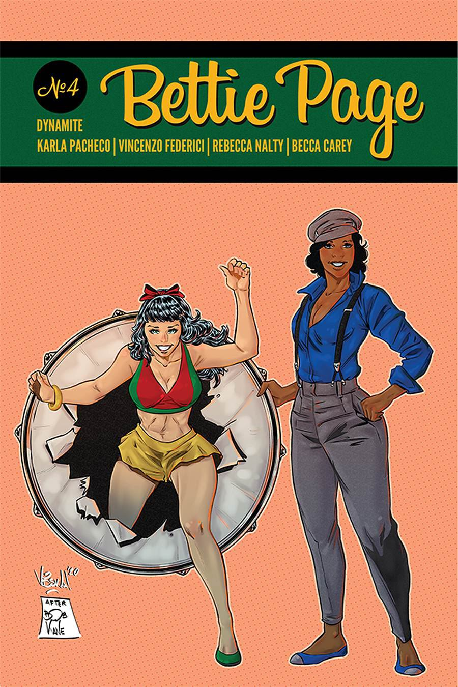 Bettie Page Vol 3 #4 Cover G Incentive Vincenzo Federici Classic Batman Homage Color Variant Cover