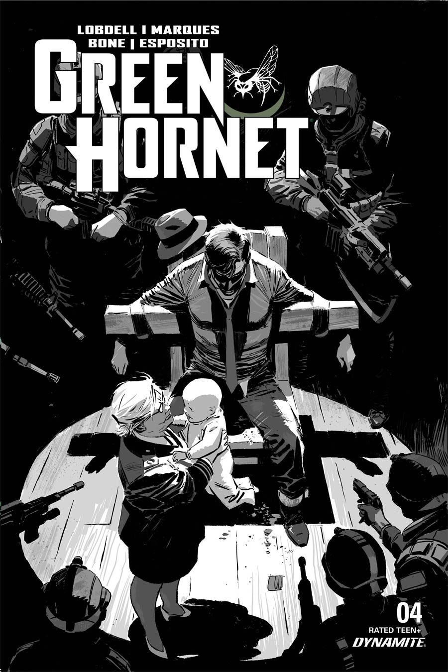 Green Hornet Vol 5 #4 Cover E Incentive Lee Weeks Black & White Cover