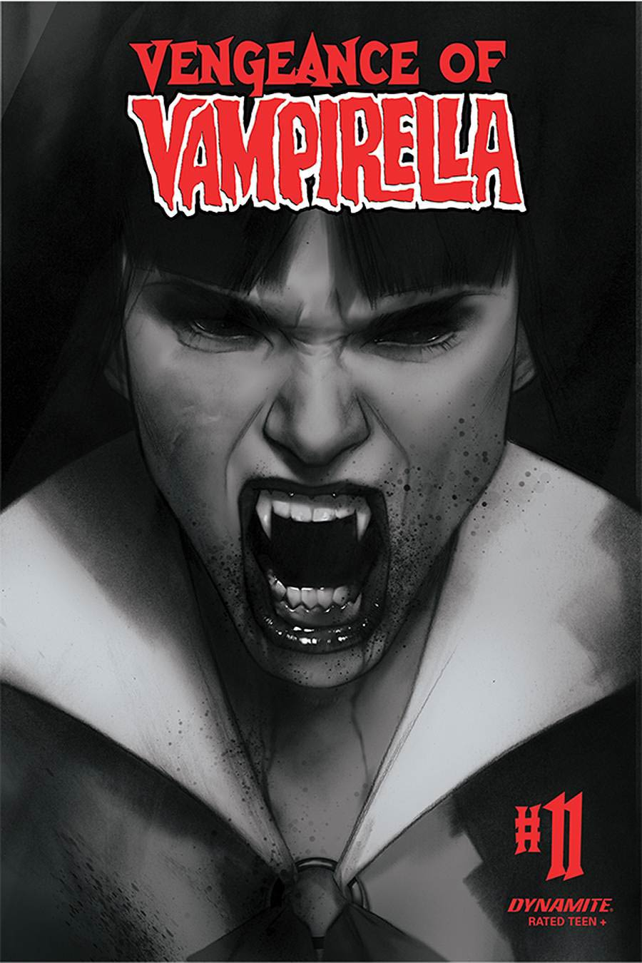 Vengeance Of Vampirella Vol 2 #11 Cover L Incentive Ben Oliver Black & White Cover