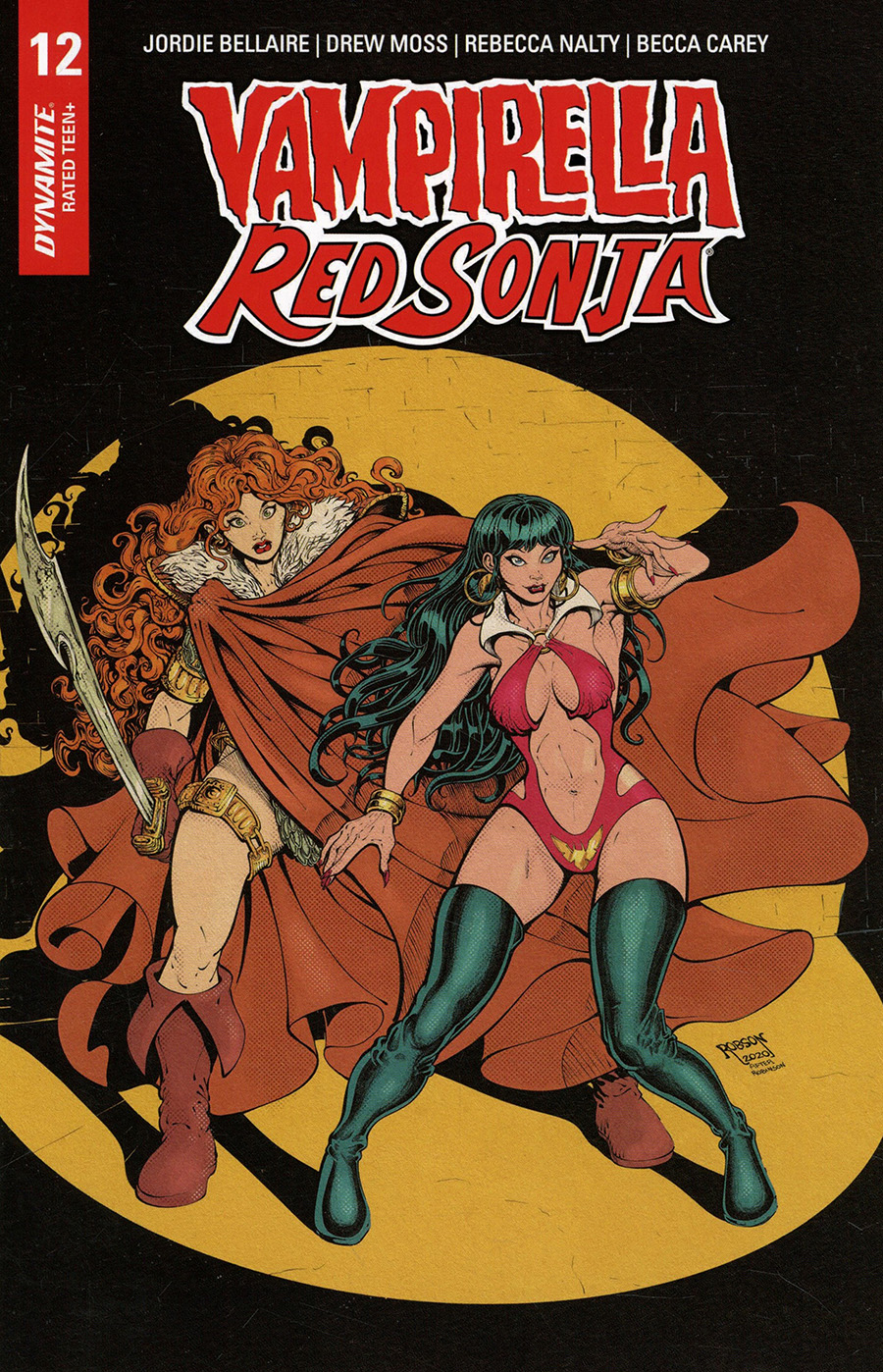 Vampirella Red Sonja #12 Cover H Incentive Will Robson Classic Batman Homage Variant Cover