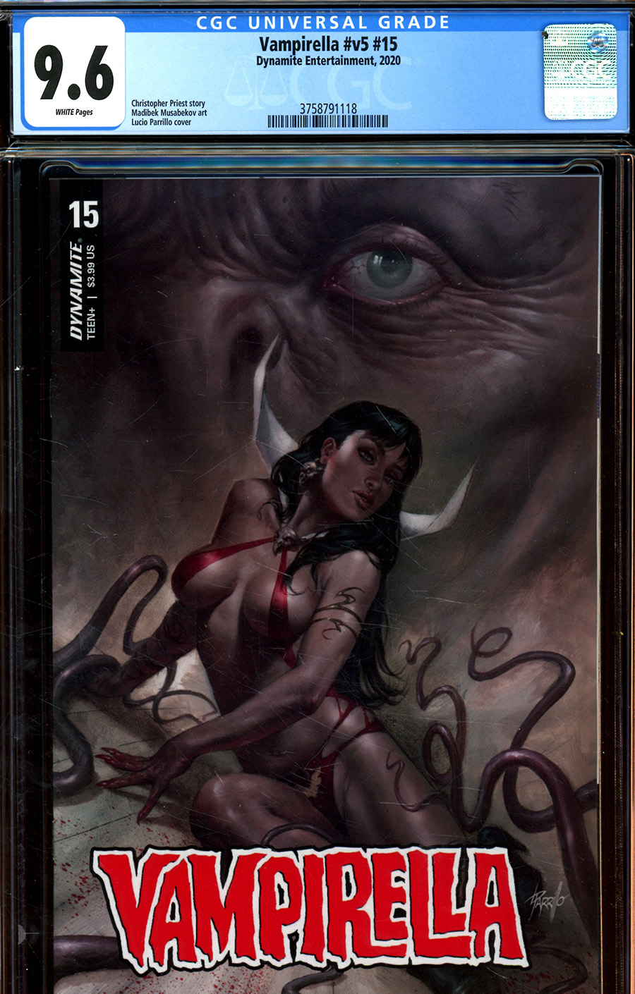 Vampirella Vol 8 #15 Cover Y Regular Lucio Parrillo Cover CGC Graded