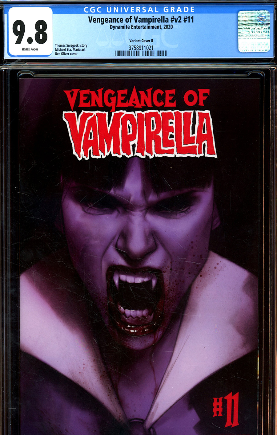 Vengeance Of Vampirella Vol 2 #11 Cover S Variant Ben Oliver Cover CGC Graded