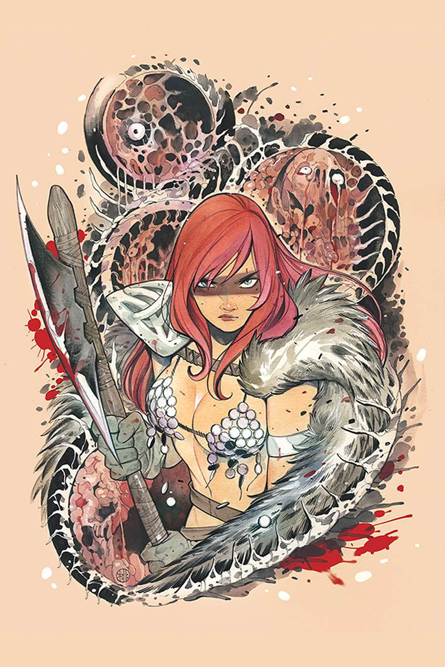 DieNamite #1 Cover V Limited Edition Peach Momoko Red Sonja Virgin Cover
