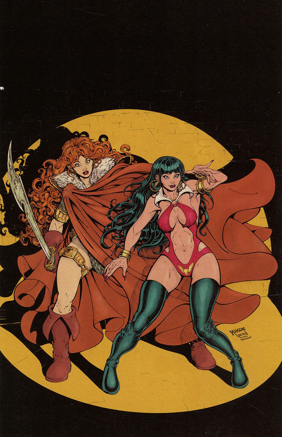 Vampirella Red Sonja #12 Cover T Limited Edition Will Robson Classic Batman Homage Virgin Cover