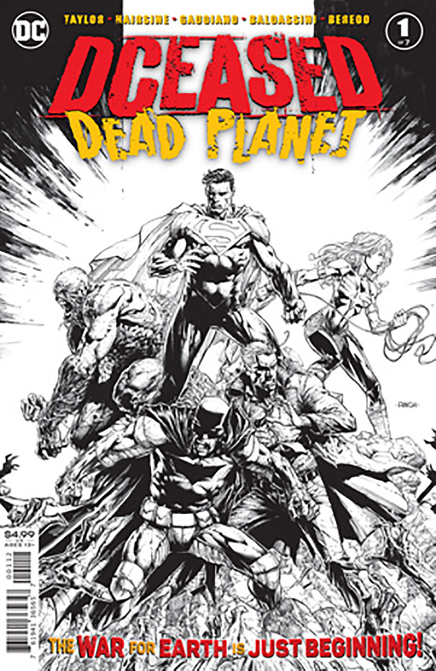 DCeased Dead Planet #1 Cover E 2nd Ptg David Finch Black & White Variant Cover