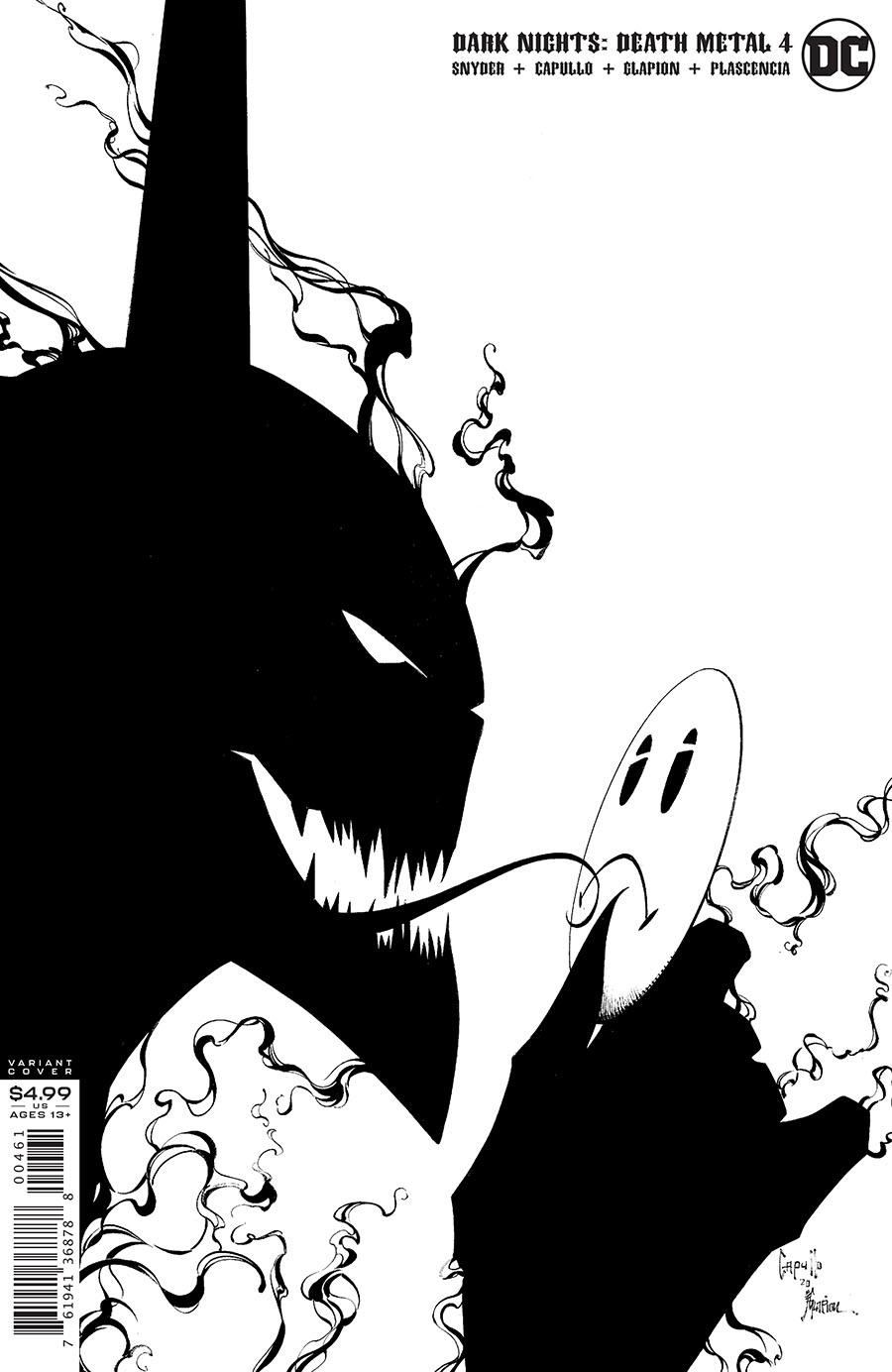 Dark Nights Death Metal #4 Cover F Incentive Greg Capullo & Jonathan Glapion Black & White Cover