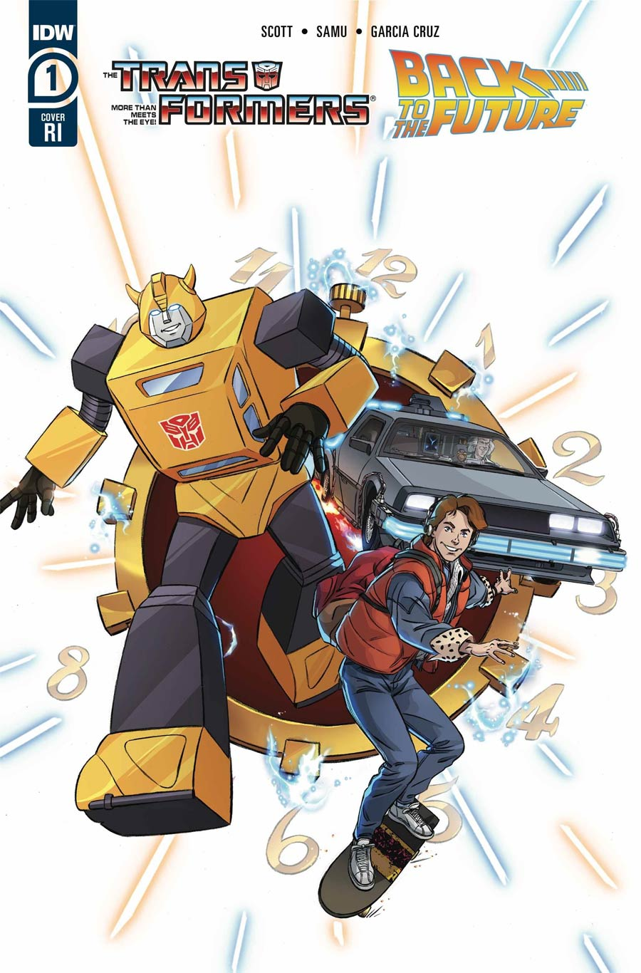Transformers Back To The Future #1 Cover C Incentive Dan Schoening Variant Cover