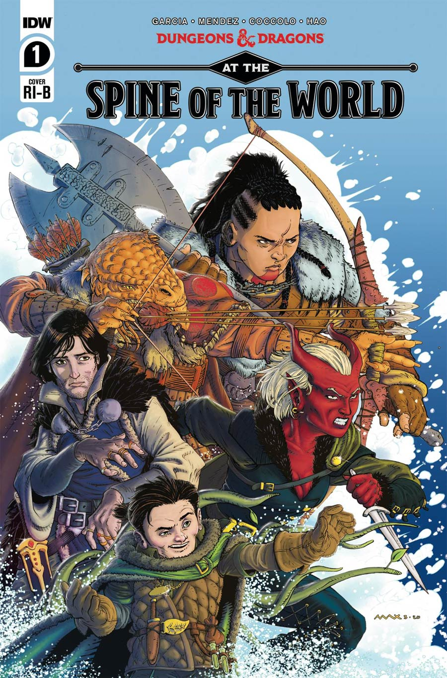 Dungeons & Dragons At The Spine Of The World #1 Cover D Incentive Max Davenport Variant Cover