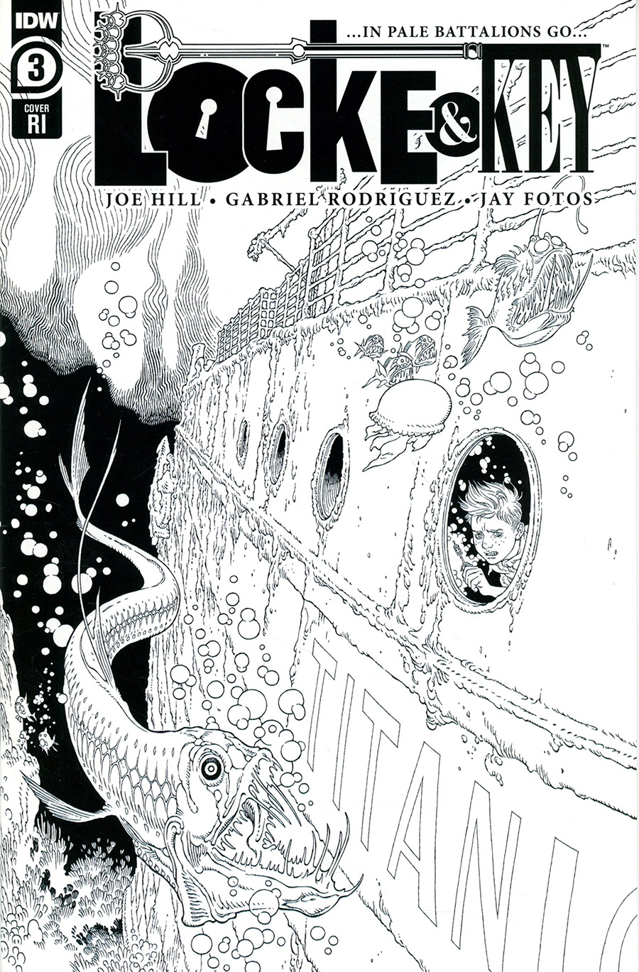Locke & Key In Pale Battalions Go #3 Cover B Incentive Gabriel Rodriguez Variant Cover