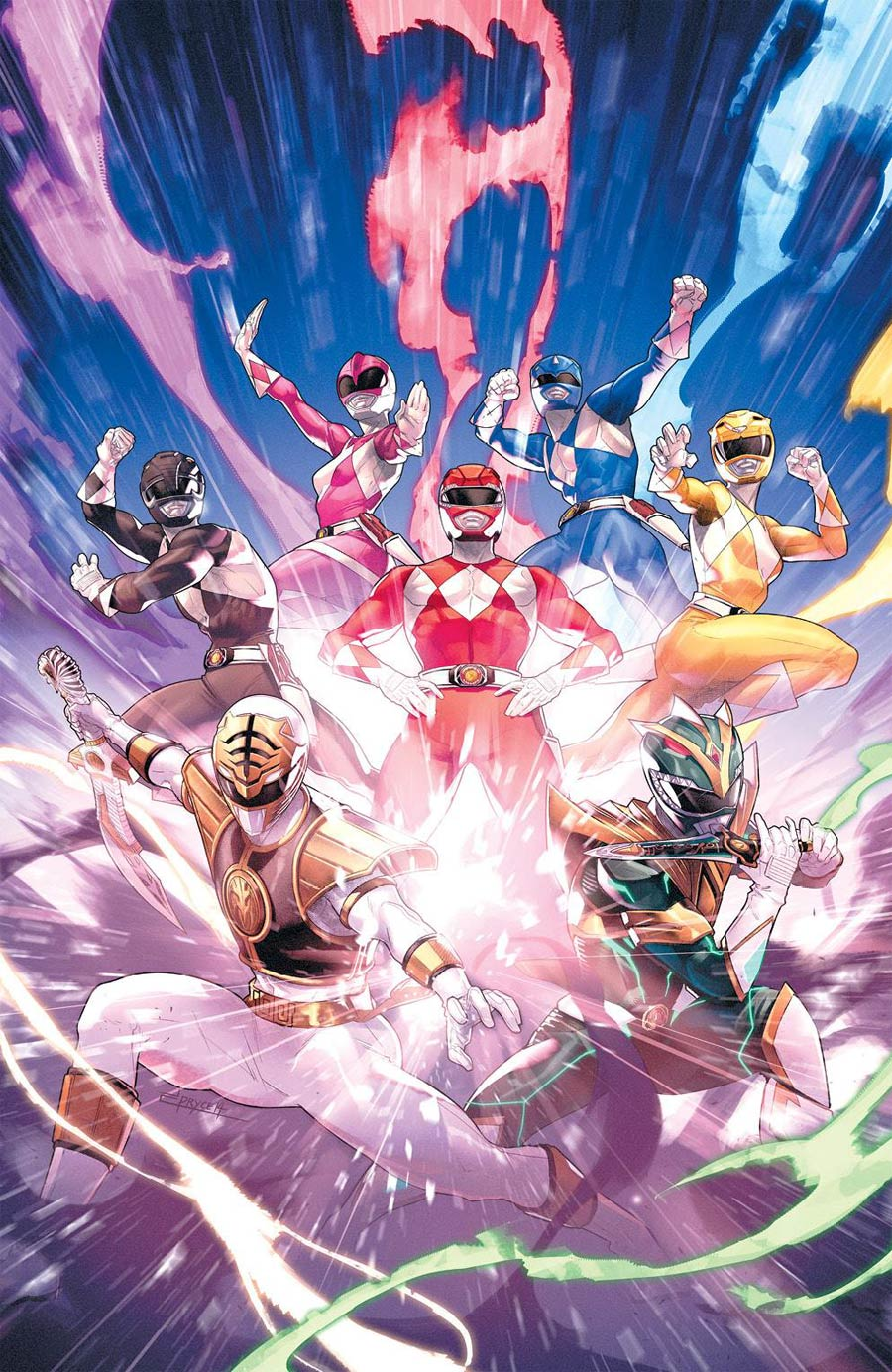 Mighty Morphin Power Rangers (BOOM Studios) #55 Cover D Incentive Jamal Campbell Variant Cover