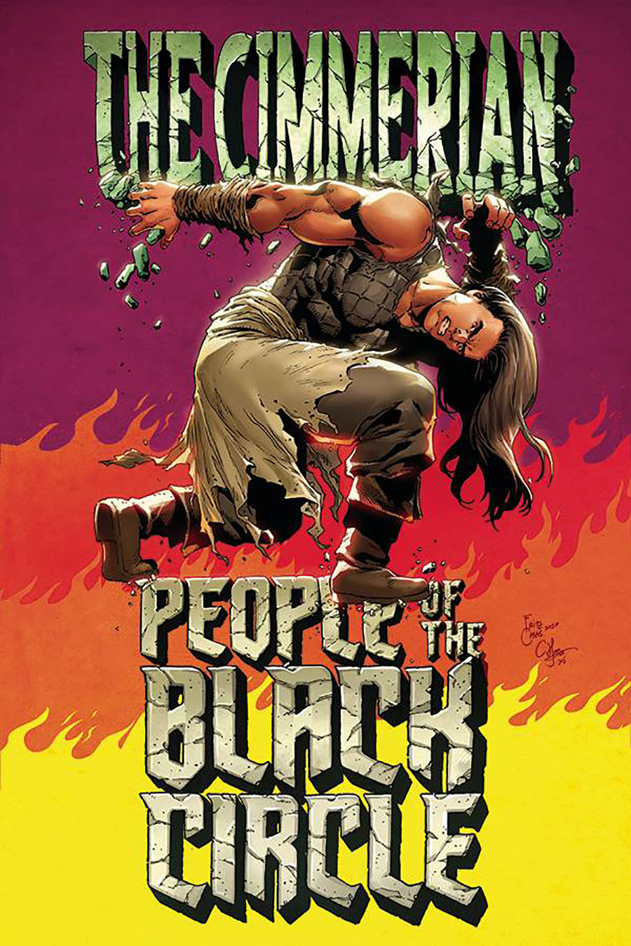 Cimmerian People Of The Black Circle #3 Cover E Incentive Fritz Casas King Size Hulk Special Parody Virgin Cover