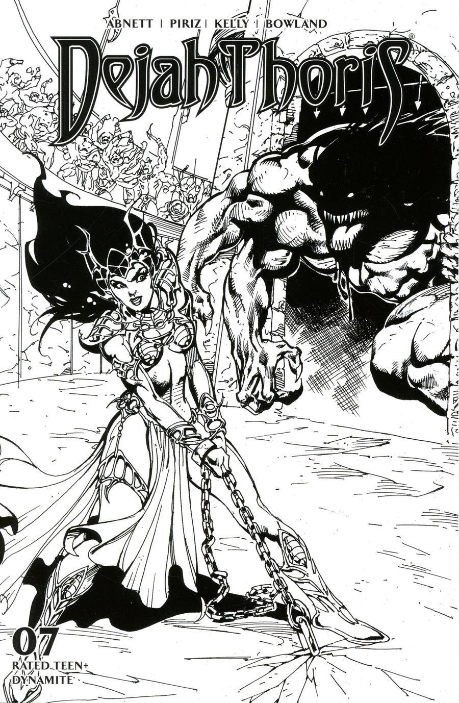 Dejah Thoris Vol 3 #7 Cover G Incentive Roberto Castro Black & White Cover
