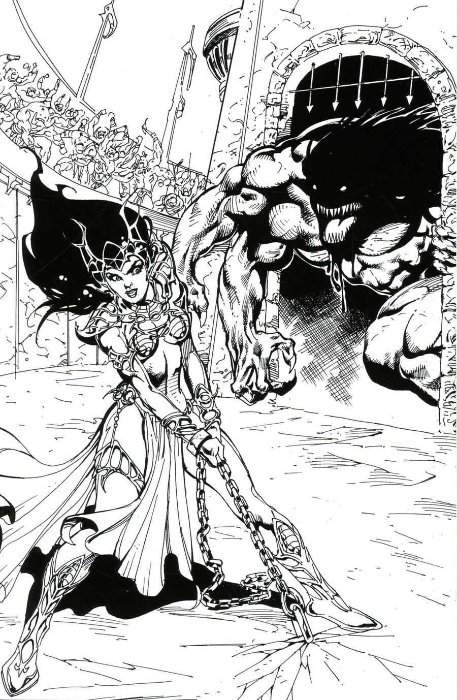 Dejah Thoris Vol 3 #7 Cover I Incentive Roberto Castro Black & White Virgin Cover