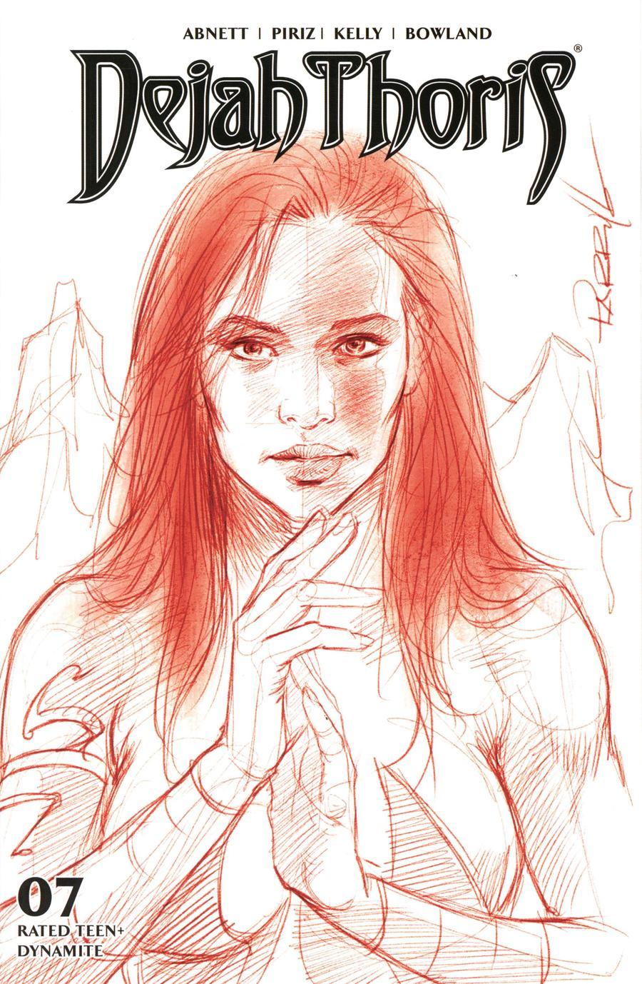 Dejah Thoris Vol 3 #7 Cover L Incentive Lucio Parrillo Tint Virgin Red Cover