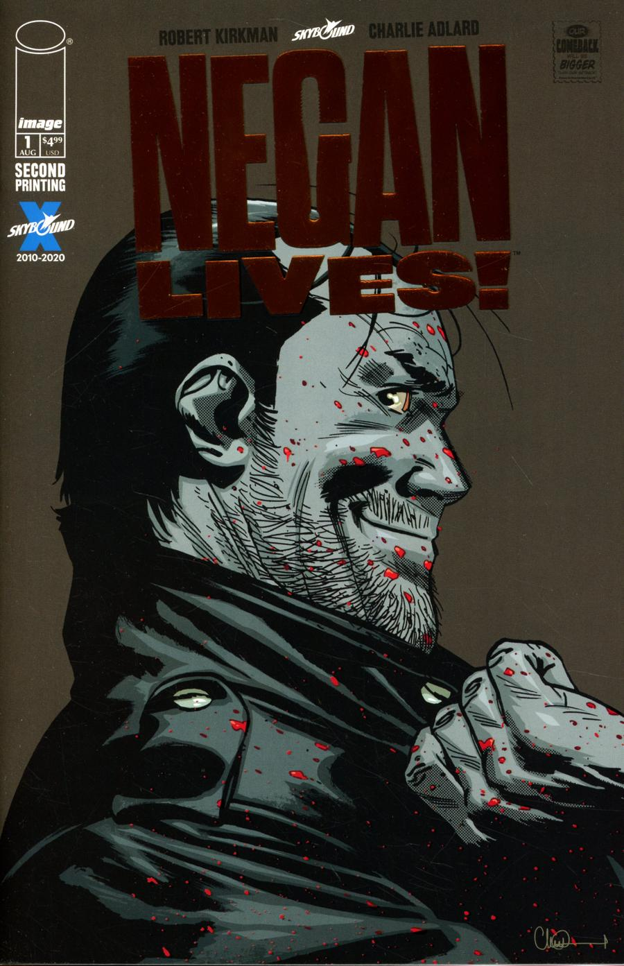 Negan Lives #1 Cover E 2nd Ptg Bronze Foil Cover