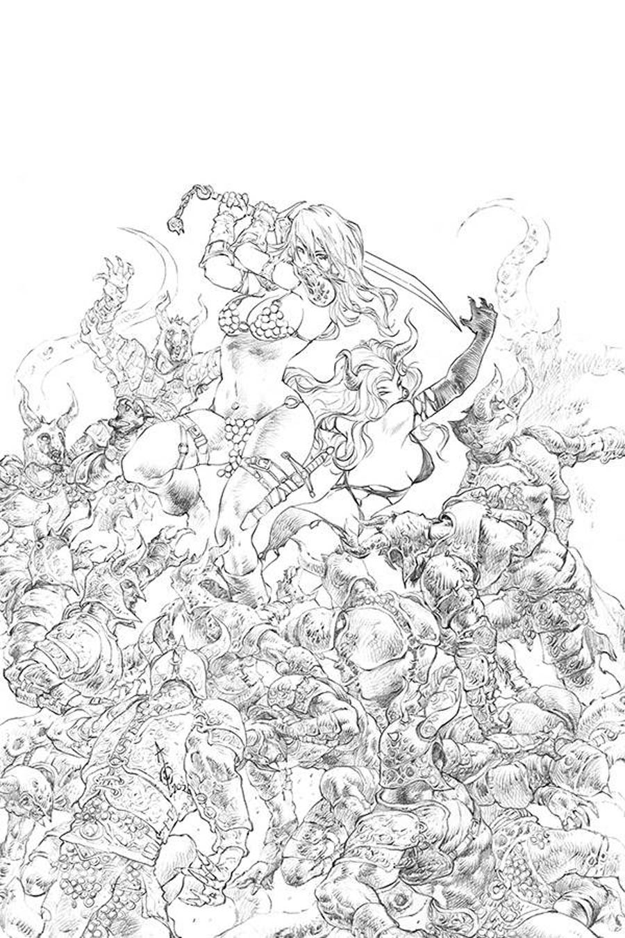 Red Sonja Age Of Chaos #6 Cover J Incentive Alan Quah Black & White Virgin Cover