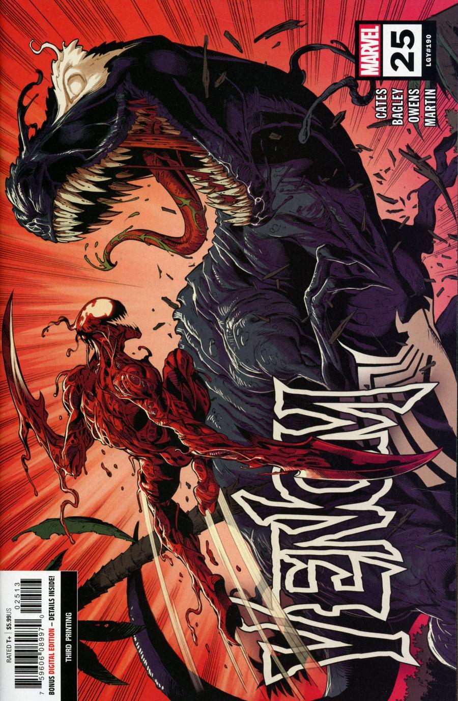 Venom Vol 4 #25 Cover S 3rd Ptg Mark Bagley Variant Cover