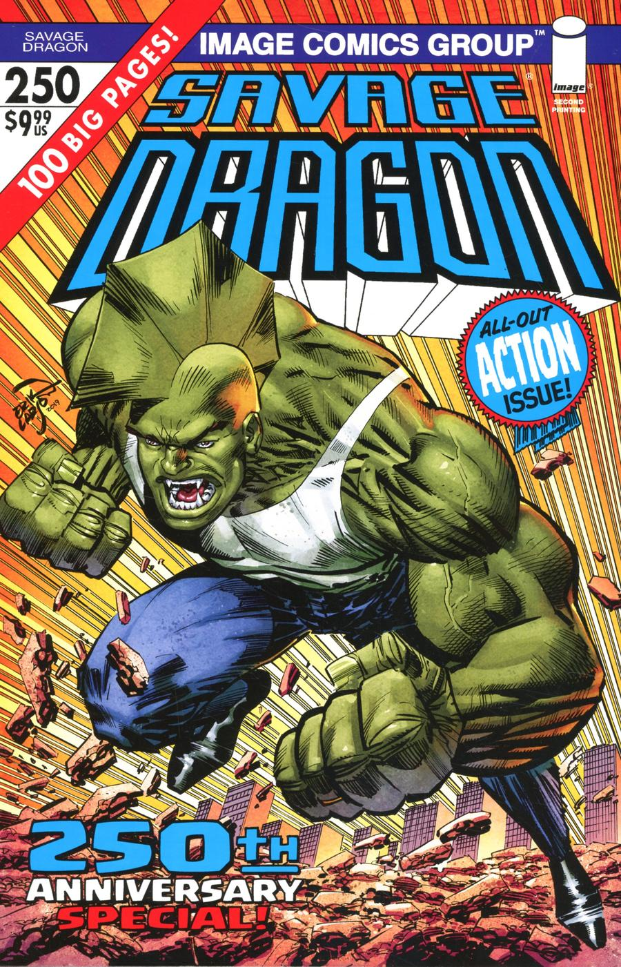 Savage Dragon Vol 2 #250 Cover H 2nd Ptg