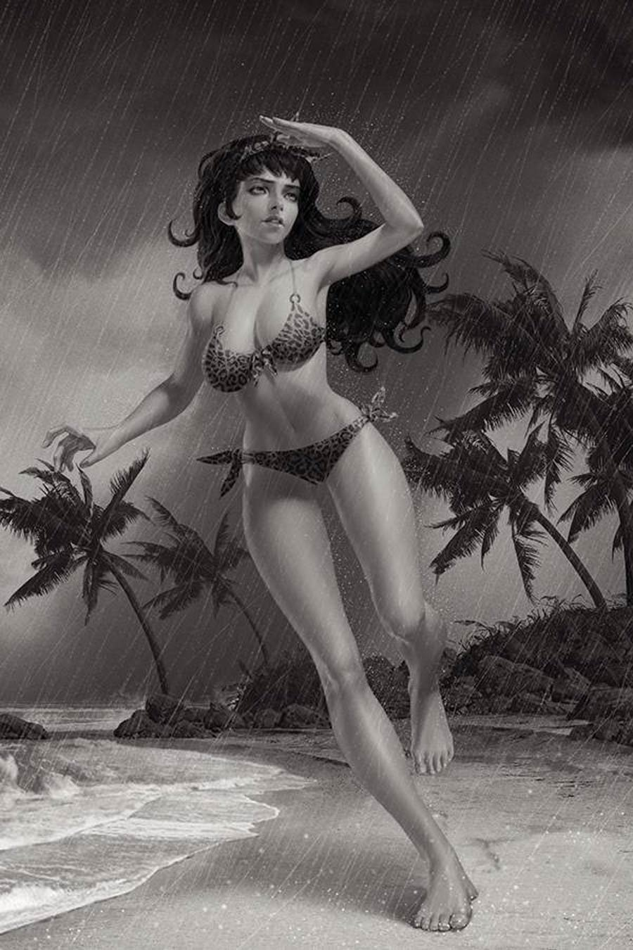 Bettie Page Vol 3 #2 Cover J Incentive Junggeun Yoon Black & White Virgin Cover