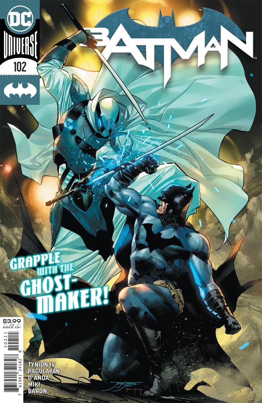 Batman Vol 3 #102 Cover A Regular Jorge Jimenez Cover