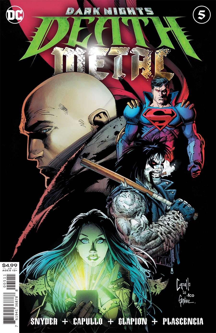 Dark Nights Death Metal #5 Cover A Regular Greg Capullo & Jonathan Glapion Foil Embossed Cover Cover