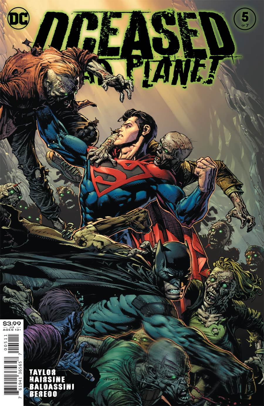 DCeased Dead Planet #5 Cover A Regular David Finch Cover