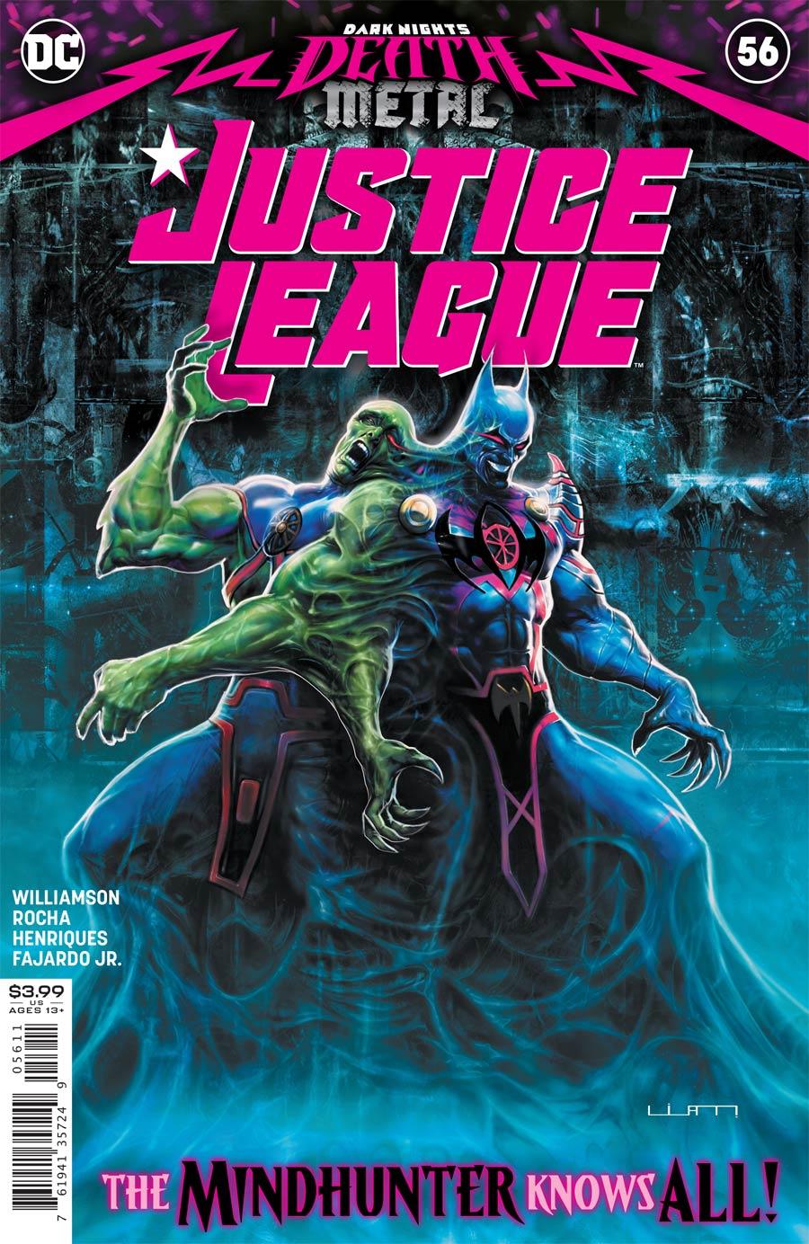 Justice League Vol 4 #56 Cover A Regular Liam Sharp Cover (Dark Nights Death Metal Tie-In)