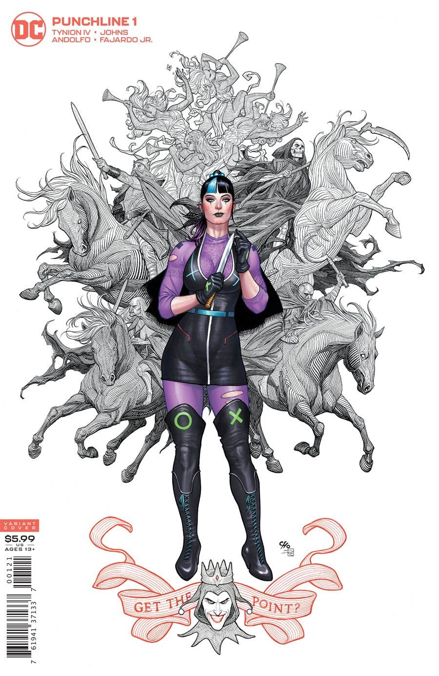 Punchline Special One Shot Cover B Variant Frank Cho Card Stock Cover