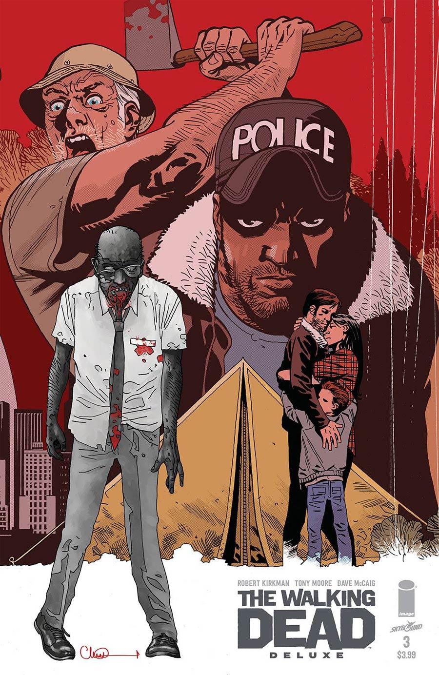 Walking Dead Deluxe #3 Cover C Variant Charlie Adlard & Dave McCaig Cover