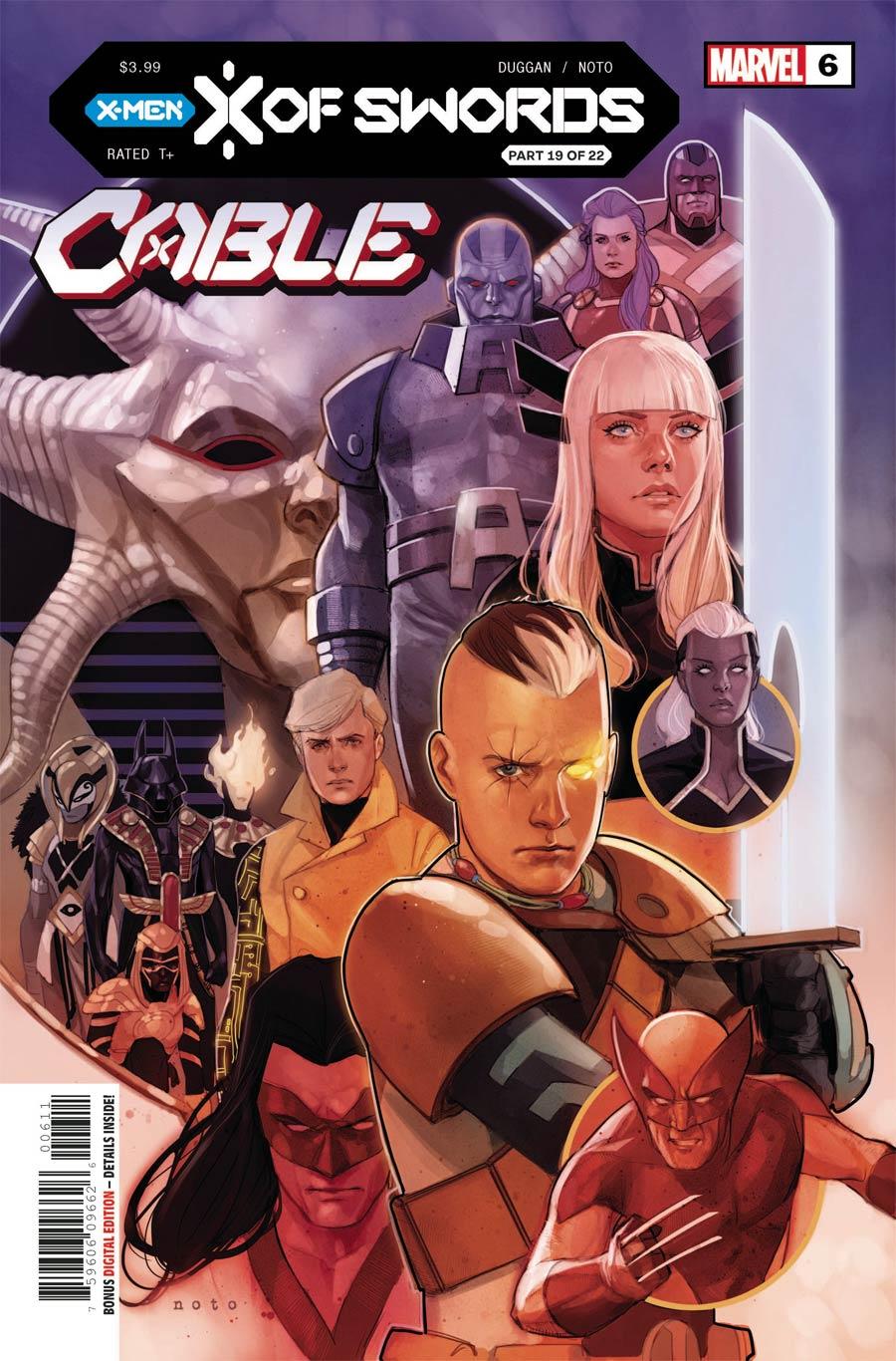 Cable Vol 4 #6 Cover A Regular Phil Noto Cover (X Of Swords Part 19)