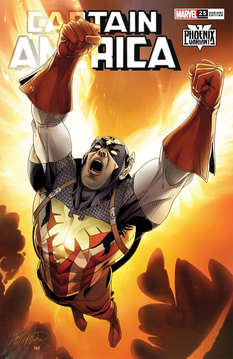 Captain America Vol 9 #25 Cover C Variant Salvador Larocca Captain America Phoenix Cover