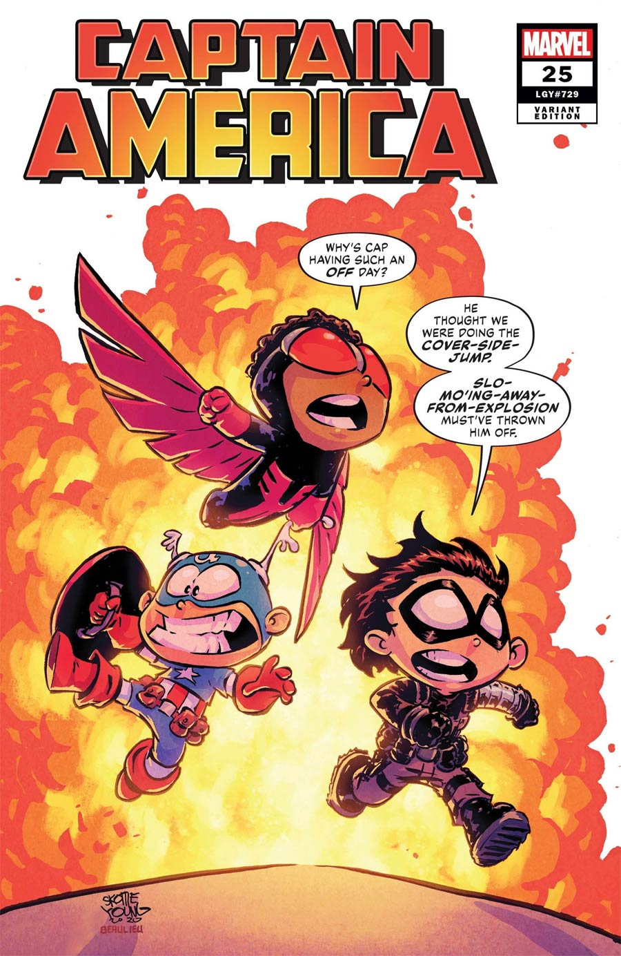 Captain America Vol 9 #25 Cover D Variant Skottie Young Cover