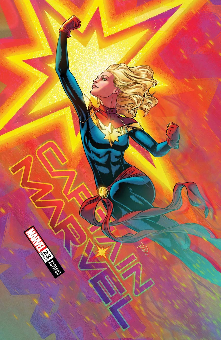 Captain Marvel Vol 9 #23 Cover B Variant Russell Dauterman Cover