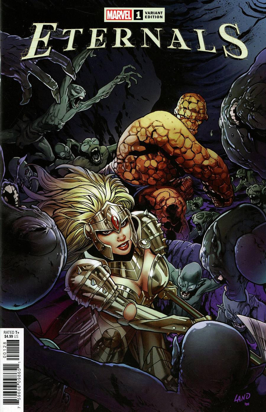 Eternals Vol 5 #1 Cover O Variant Greg Land Cover