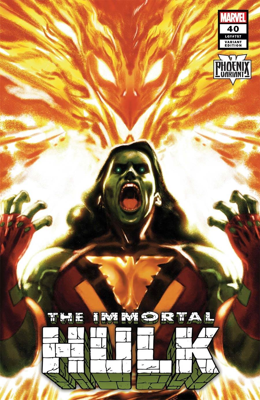 Immortal Hulk #40 Cover C Variant Taurin Clarke She-Hulk Phoenix Cover
