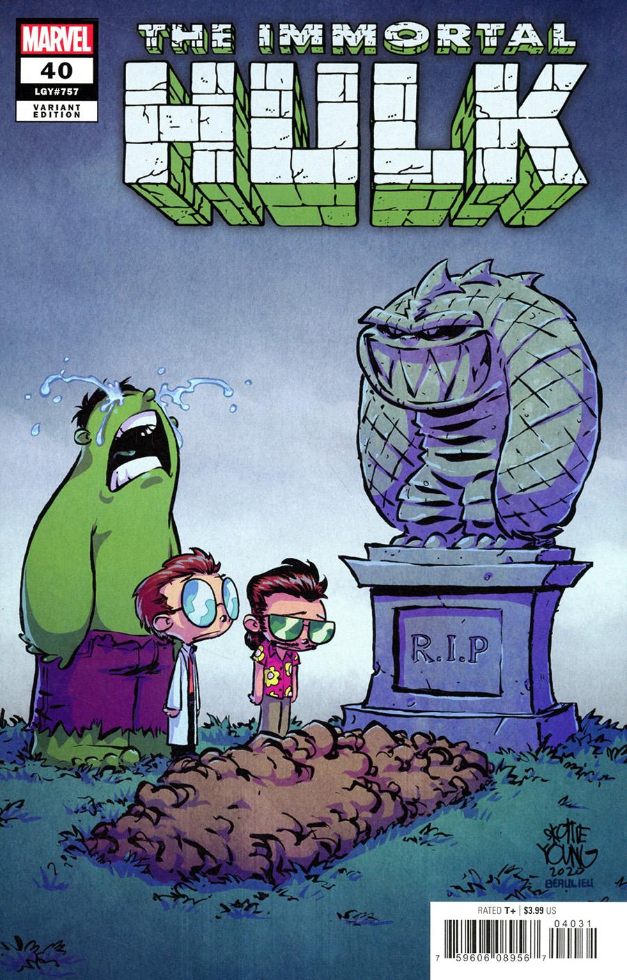 Immortal Hulk #40 Cover D Variant Skottie Young Spoiler Cover