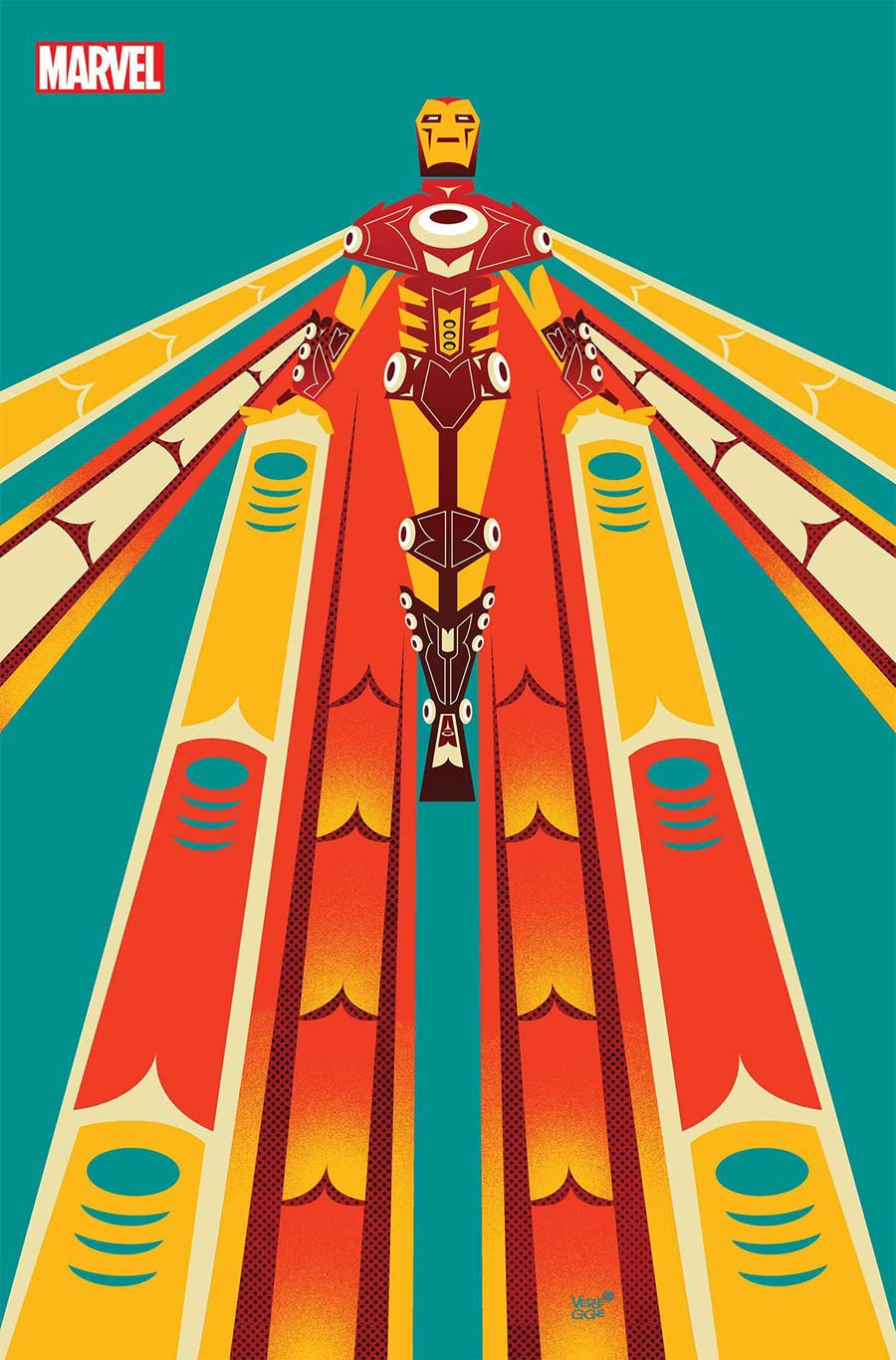 Iron Man Vol 6 #3 Cover B Variant Jeffrey Veregge Native American Heritage Tribute Iron Man Cover